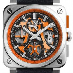 Bell & Ross Aviation Mens Watch Replica BR 03-94 AEROGT ORANGE