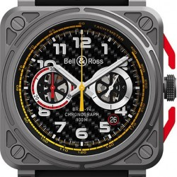 Bell & Ross Aviation Instruments Chronograph 42mm Mens Watch Replica BR0394-RS18