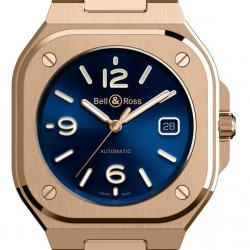 Bell & Ross BR 05 Blue Gold Watch Replica BR05A-BLU-PG/SPG