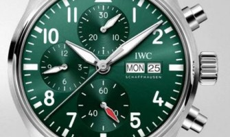 IWC Pilot's Chronograph 41 Automatic Green Dial Mens Watch IW388103