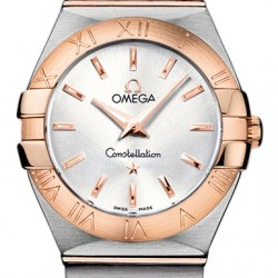 Omega Constellation Brushed27mm Ladies Watch Replica 123.20.27.60.02.001