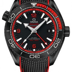 Omega Seamaster Planet Ocean 600M GMT Deep Black Red Watch Replica 215.92.46.22.01.003