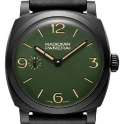 Panerai Radiomir 48mm Ceramic Military Green Watch Replica PAM00997
