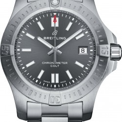 Breitling Chronomat Colt Automatic 41 Steel Tempest Gray Watch Replica A17313101F1A1