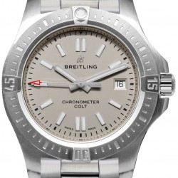 Breitling Chronomat Colt Automatic 41 Steel Silver Mens Watch Replica A17313101G1A1