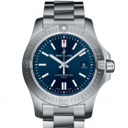 Breitling Chronomat Colt Automatic 44 Steel Mariner Blue Watch Replica A17388101C1A1